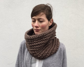 Chunky Taupe cowl/ neckwarmer/ Colette/