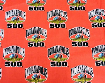 Indianapolis 500 Fabric, Cotton Fat Quarter Piece 18  x 22 inch, Car Racing, Indianapolis Motor Speedway for Quilting Craft itsyourcountry