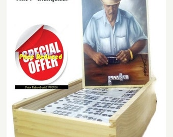 ON SALE Buy 1 Dominoes Set , Get 2nd 50 % Off. Professional Dominoes Set double Nine with Artwork.