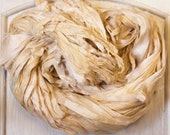 Sari Silk Ribbon in Dyeable Bone Ivory