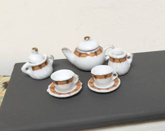 Vintage dollhouse miniature tea set