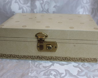 Vintage - Mele Style - White - 1950 -Jewelry-Box