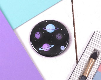 Cute Space Planets Pocket Mirror / Kawaii Gifts / Gifts For Teens / Teen Gift / Gifts For Her / Gifts For Girls