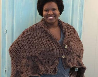 Oversized Knit Wrap/Throw Blanket