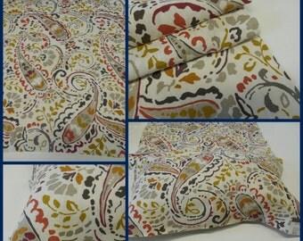 "Kravet Fabric- Thom Filicia -Portfolio-Tousey -Quarry- Linen Print- Paisley -pc-25""x35.5""- Upholstery -Drapery Fabric"