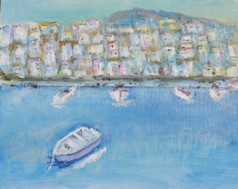 Oil painting of Island Bay