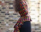 NEW - Miss D peacock peplum top - red by GITAS Portal