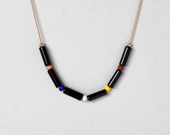 Necklace by Depeapa - FIESTA - Jarana Collection - Accesories, jewellery, black