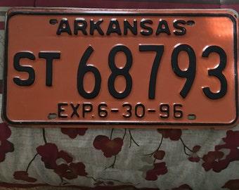 Vintage Arkansas license plate