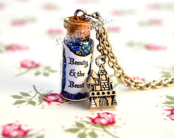 Beauty and the Beast Necklace,  Tale as Old as Time Magical Necklace Castle Charm, Disney Bound,  Disney Beauty and the Beast  Cosplay