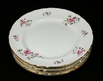 Sutherland H&M Bone China 14 Piece Set w/Pink Small Flowers 4 Teacups 4 Saucers 4 Dessert Plates Sugar Bowl Creamer FREE SHIPPING