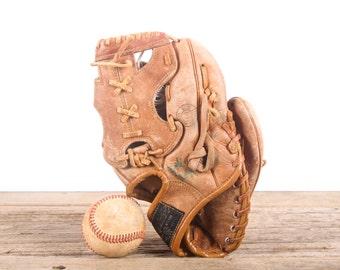 Old Leather Baseball Glove / Youth Revelation Western Auto Stores Baseball Glove / Antique Baseball Glove / Old Glove Antique Mitt
