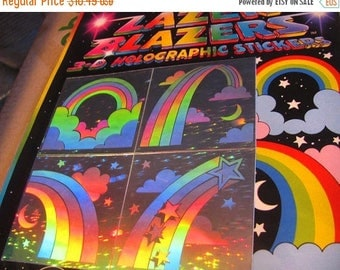 SALE Colorforms Lazer Blazers Rainbow Hologram Sticker Pack - 80's New in Package Holographic Silver Reflective Shooting Star