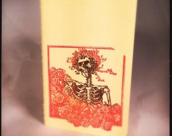 Rose Skeleton Grateful Dead yellow Moleskine Cahier Notebook