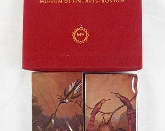 Vintage Martin Johnson Heade Brazilian Hummingbirds Playing Cards Set