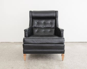MId Century Leather Drexel Lounge Chair