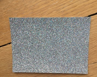 Silver irridescent Glitter tags/tabs