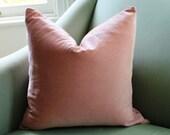 Pale Pink Blush Velvet Cushion Pillow Cover