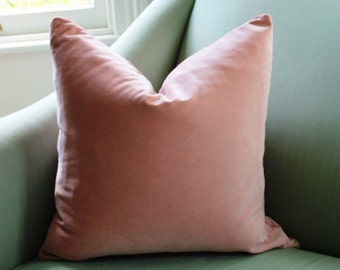 Pale Pink Blush Velvet Cushion Pillow Cover