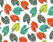 SHOP CLOSING SALE Michael Miller fabric for quilt or craft Paint Palettes in Retro Half Yard