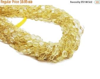 10% off Halloween SALE Lemon Quartz Round Beads-- 5-8mm Beads -- (S15B10-02)
