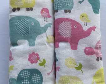 Elephant- Car Seat Strap Covers/Stroller Strap Covers/Reversible Strap Covers