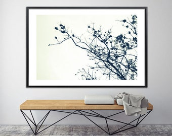 Large tree print black and white Modern prints, extra large wall art poster beautiful nature prints canvas art by Duealberi