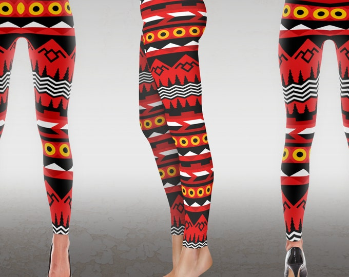 Twin Peaks Patterned Leggings