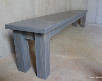 Farmhouse Bench / Rustic Farmhouse Bench / Farmhouse Dining Bench / Rustic Bench / Wood Bench / Dining Bench / Farm Style Bench / Bench