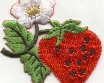 strawberry fruit  IRON ON APPLIQUE