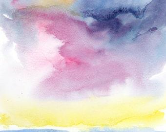 Modern Art Print, Landscape Print, Ocean, Abstract Landscape, beach art, Sea, Ocean, Water