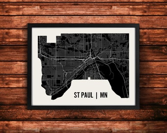 St Paul Map Art Print | St Paul Print | St Paul Art Print | St Paul Poster | St Paul Gift | Wall Art