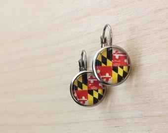 Maryland Flag Drop Earrings