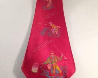 Vintage Silk Necktie - Fly Fishing - Gotham Styles brand