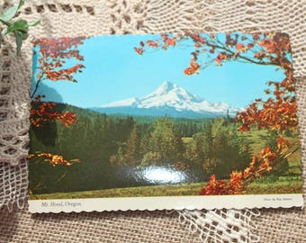 Vintage postcard of Mt. Hood ,Oregon, Vintage Ephemera,postcard collection,