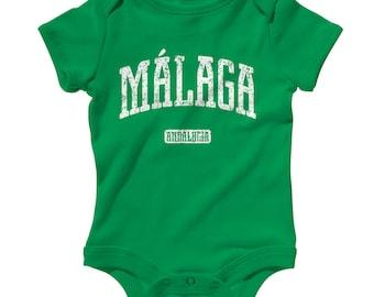 Baby One Piece - Malaga Spain - Infant Romper - NB 6m 12m 18m 24m - Baby Shower Gift, Malacitano, Costa del Sol, Andalucia, Marbella, Velez
