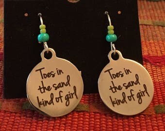 Toes In The Sand Kind of Girl Earrings