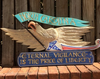 Custom Bellamy Eagle State sign