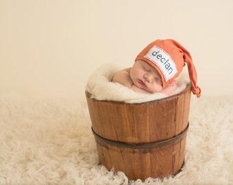 personalize newborn hat - baby shower gift - twin baby gift - newborn boy coming home outfit - newborn photo prop - newborn boy hospital hat