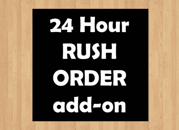 Rush Order within 24 hours - Digital printouts and Invites ONLY