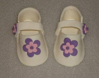 Gumpaste Life Size Mary Jane Baby Shoes Booties for Baby Shower