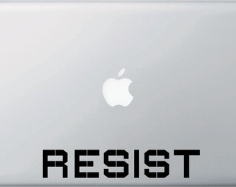 MB - RESIST - Protest - Resistance - Vinyl Macbook Laptop Decal Sticker - YYDC (Size and Color Choices)