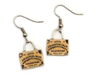 Ouija Boards miniature wooden earrings