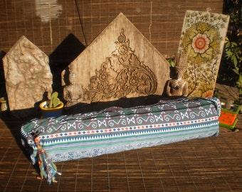 Yoga Mat Bag , Hmong Print Fabric, Hand made Yoga Bag, Tribal Bag