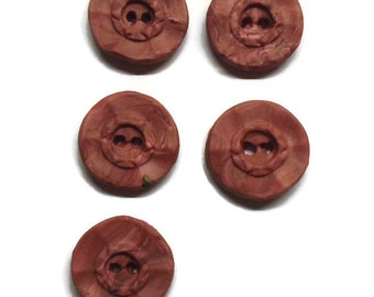 Polymer Clay Buttons - Size 20mm - Retro Style -  Dusty Rose - Rose Buttons - Retro Style Rose Button - Handmade Buttons - EU SELLER