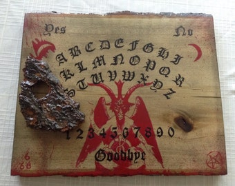Ouija Board / Handmade Ouija Board / Baphomet