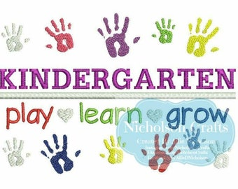 Kindergarten machine embroidery design - 5X7