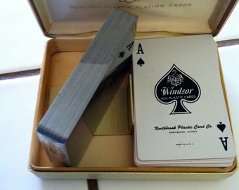 """Vintage 80's """"NORTHBROOK WiNDSOR IMPERIAL"""" A Double Deck of Playing Cards"""
