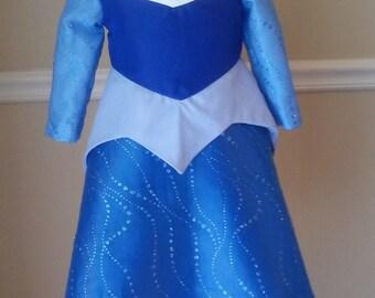Sleeping Beauty Dress in Blue Sizes 6 months- 3t