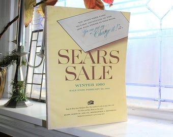 Vintage 1960 Sears Winter Sale Catalog